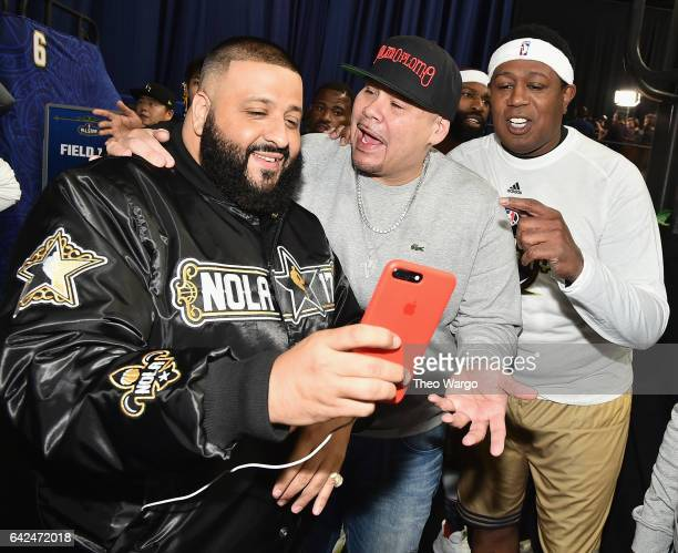 Khaled Fat Joe and Master P attend the 2017 NBA AllStar Celebrity Game at MercedesBenz Superdome on February 17 2017 in New Orleans Louisiana