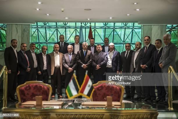 Khaled Fawzi head of the Egyptian Intelligence services Azzam alAhmad head of the Fatah delegation for the talks and Hamas' new deputy leader Salah...