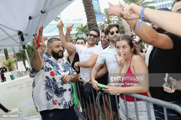 Khaled interacts with fans at the iHeartSummer '17 Weekend By ATT Day 1 at Fontainebleau Miami Beach on June 9 2017 in Miami Beach Florida