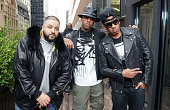 DJ Khaled Jeremih and Vado attend Vado's 'My Bae' video shoot featuring Jeremih at The Griffin on April 1 2014 in New York City