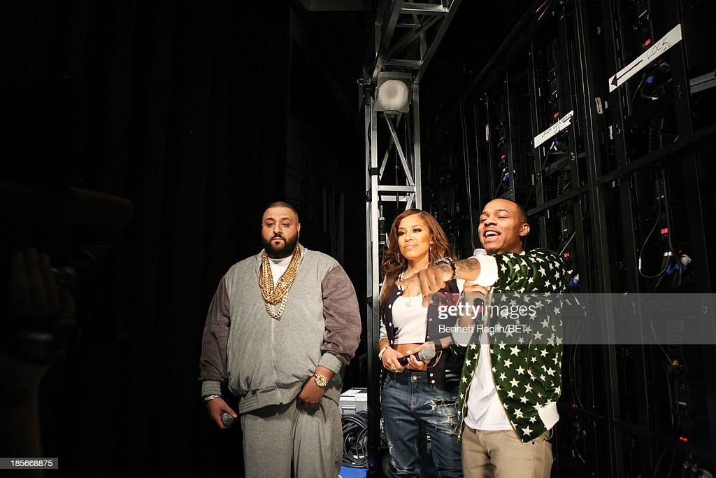 DJ Khaled, Keshia Chante, and Bow Wow attend 106 & Park at 106 & Park studio on October 22, 2013 in New York City.