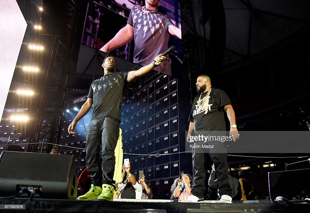 Khaled opens with rapper Ludacris for Beyonce during 'The Formation World Tour' at Georgia Dome on May 1 2016 in Atlanta Georgia
