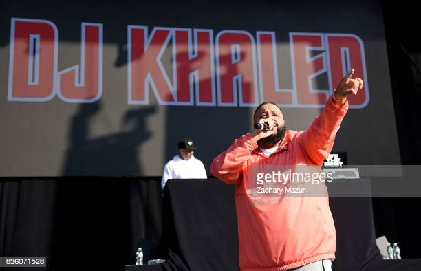 Khaled performs at 2017 Billboard HOT 100 Music Festival at Northwell Health at Jones Beach Theater on August 20 2017 in Wantagh New York