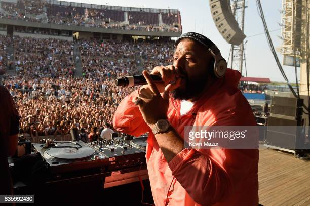 Khaled performs during Day Two of 2017 Billboard Hot 100 Festival at Northwell Health at Jones Beach Theater on August 20 2017 in Wantagh City