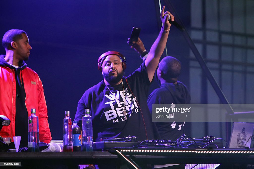 Khaled performs during Pepsi Super Friday Night at Pier 70 on February 5 2016 in San Francisco California