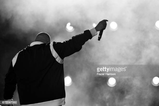 DJ Khaled performs in the Sahara Tent during day 3 of the 2017 Coachella Valley Music Arts Festival at the Empire Polo Club on April 23 2017 in Indio...