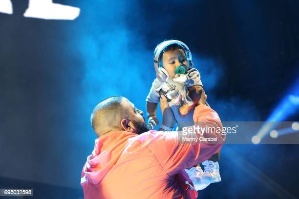 Khaled performs on stage during the HOT 97 Summer Jam 2017 at MetLife Stadium on June 11 2017 in East Rutherford New Jersey