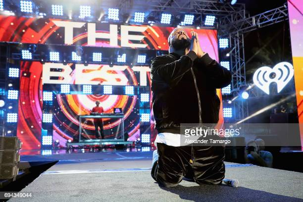 Khaled performs on stage during the iHeartSummer '17 Weekend hosted by ATT at Fontainebleau Miami Beach on June 9 2017 in Miami Beach Florida