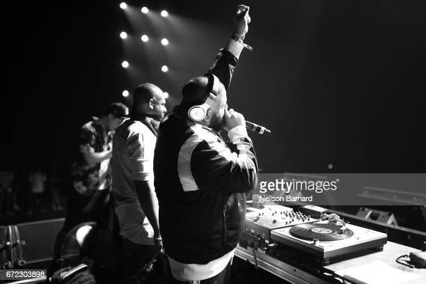 Khaled performs on the Sahara Stage during day 3 of the 2017 Coachella Valley Music Arts Festival at the Empire Polo Club on April 22 2017 in Indio...
