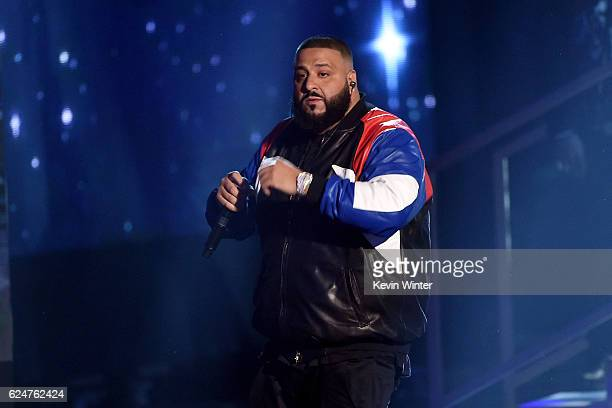 Khaled performs onstage during the 2016 American Music Awards at Microsoft Theater on November 20 2016 in Los Angeles California