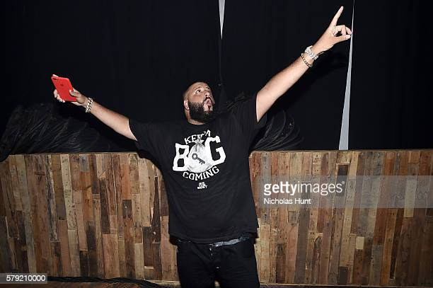 Khaled poses backstage at the 2016 Panorama NYC Festival Day 1 at Randall's Island on July 22 2016 in New York City