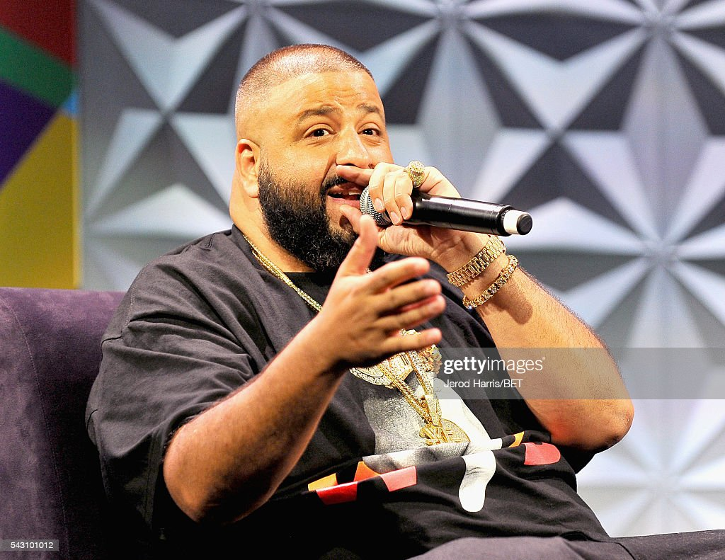 <a gi-track='captionPersonalityLinkClicked' href=/galleries/search?phrase=DJ+Khaled&family=editorial&specificpeople=577862 ng-click='$event.stopPropagation()'>DJ Khaled</a> speaks during the Genius Talks sponsored by AT&T during the 2016 BET Experience on June 25, 2016 in Los Angeles, California.