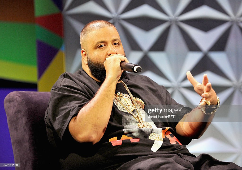 <a gi-track='captionPersonalityLinkClicked' href=/galleries/search?phrase=DJ+Khaled&family=editorial&specificpeople=577862 ng-click='$event.stopPropagation()'>DJ Khaled</a> speaks onstage during the Genius Talks sponsored by AT&T during the 2016 BET Experience on June 25, 2016 in Los Angeles, California.