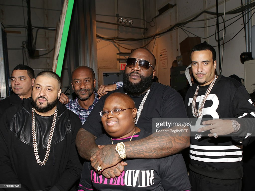 DJ Khaled, Stephen Hill, Rick Ross, and French Montana visit 106 & Parkat BET studio on March 3, 2014 in New York City.