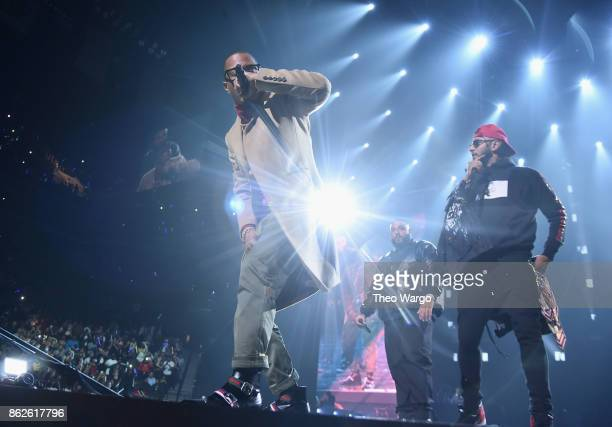 Khaled TI and Swizz Beatz perform onstage during TIDAL X Brooklyn at Barclays Center of Brooklyn on October 17 2017 in New York City