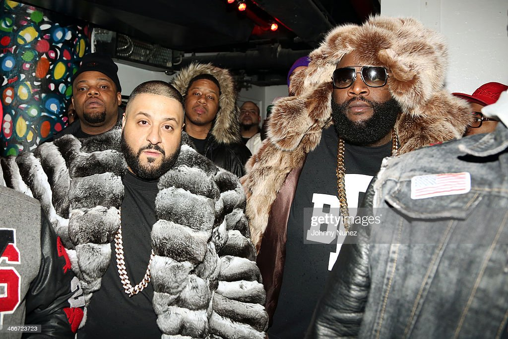 DJ Khaled, Vado, and Rick Ross attend Camron's KillaBowl at WIP on February 2, 2014 in New York City.