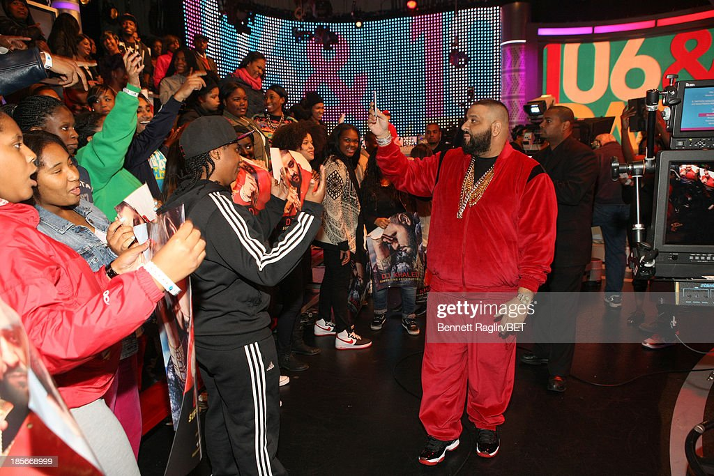 DJ Khaled visits 106 & Park at 106 & Park studio on October 22, 2013 in New York City.