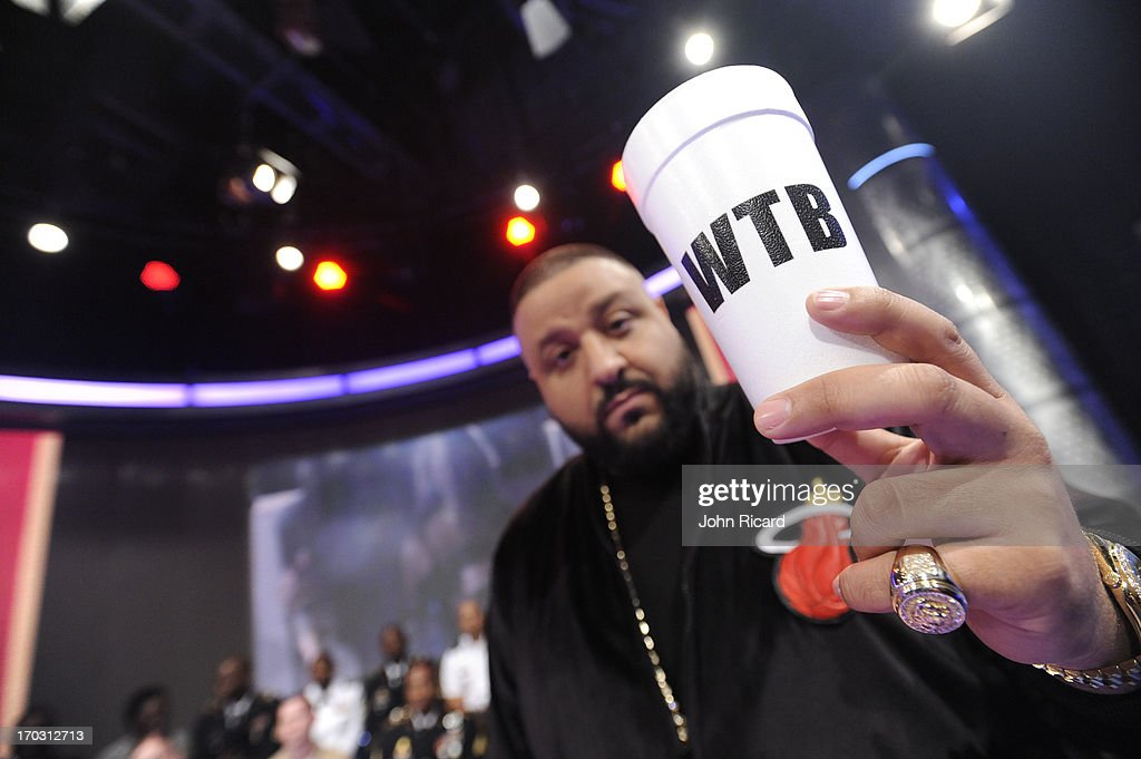 <a gi-track='captionPersonalityLinkClicked' href=/galleries/search?phrase=DJ+Khaled&family=editorial&specificpeople=577862 ng-click='$event.stopPropagation()'>DJ Khaled</a> visits BET's '106 & Park' at BET Studios on June 10, 2013 in New York City.