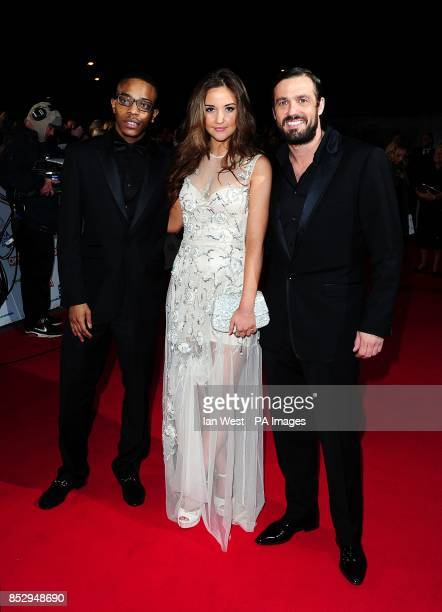 Khali Best Jacqueline Jossa and Jamie Lomas arriving for the 2014 National Television Awards at the O2 Arena London