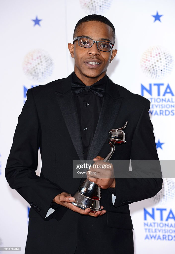 Khali Best poses in the winners room at the National Television Awards at 02 Arena on January 22, 2014 in London, England.