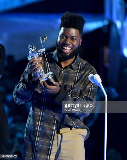 Khalid accepts the Best New Artist award onstage during the 2017 MTV Video Music Awards at The Forum on August 27 2017 in Inglewood California