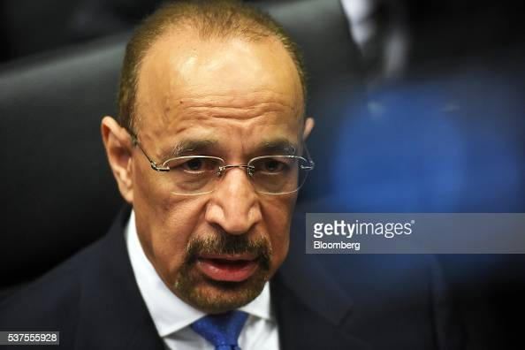 Khalid AlFalih Saudi Arabia's minister of energy and industry looks on ahead of the 169th Organization of Petroleum Exporting Countries meeting in...