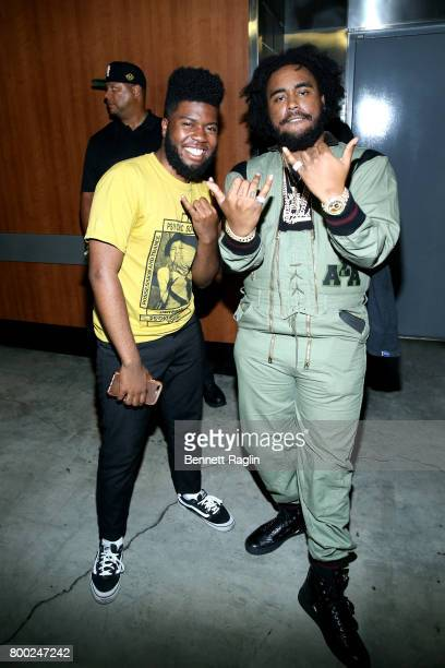 Khalid and Kent Jones at night two of the STAPLES Center Concert presented by CocaCola during the 2017 BET Experience at LA Live on June 23 2017 in...