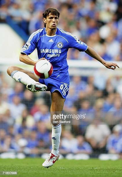 Khalid Boulahrouz of Chelsea controls the ball during the Barclays Premiership match between Chelsea and Charlton Athletic at Stamford Bridge on...