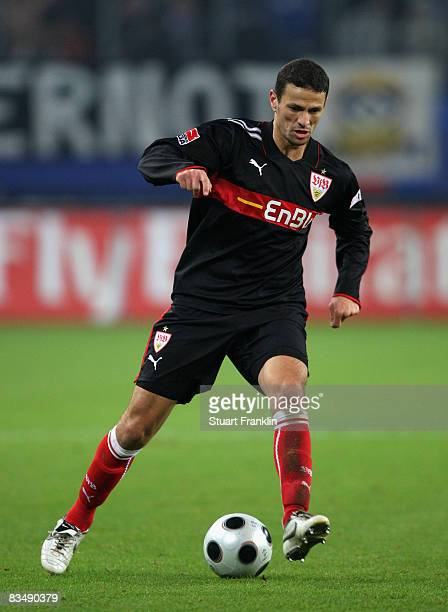 Khalid Boulahrouz of Stuttgart during the Bundesliga match between Hamburger SV and VfB Stuttgart at the HSH Nordbank Arena on October 29 2008 in...
