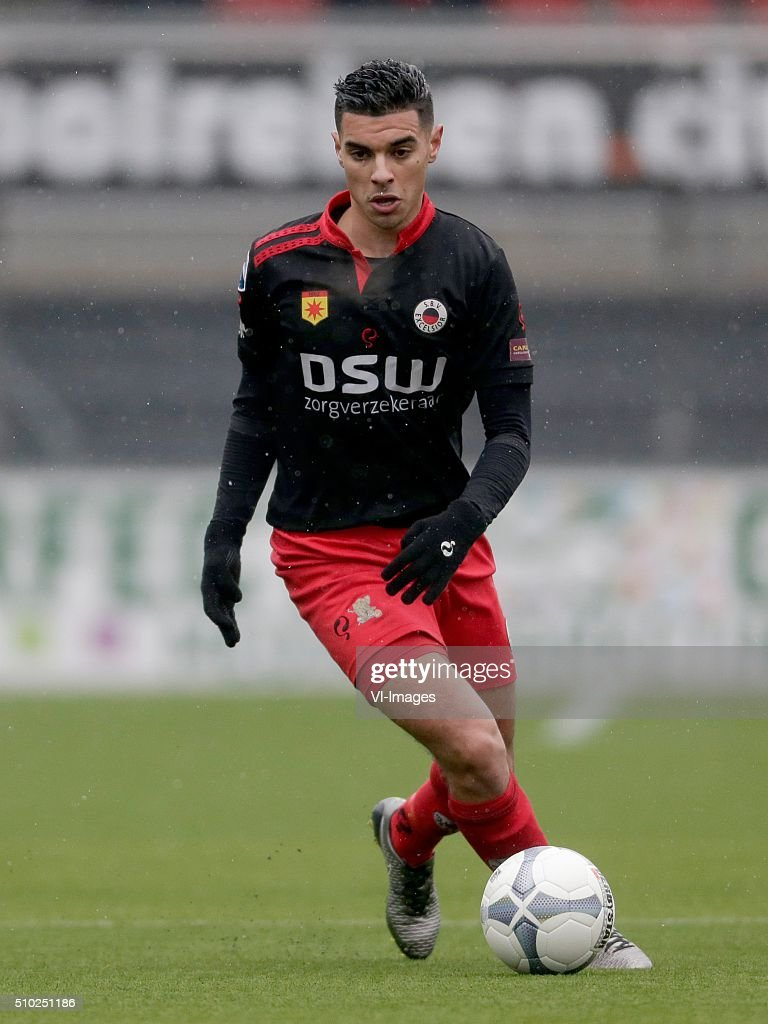 Khalid Karami of Excelsior Rotterdam during the Dutch Eredivisie match between Excelsior Rotterdam and ADO Den Haag at Woudenstein stadium on February 14, 2016 in Rotterdam, The Netherlands