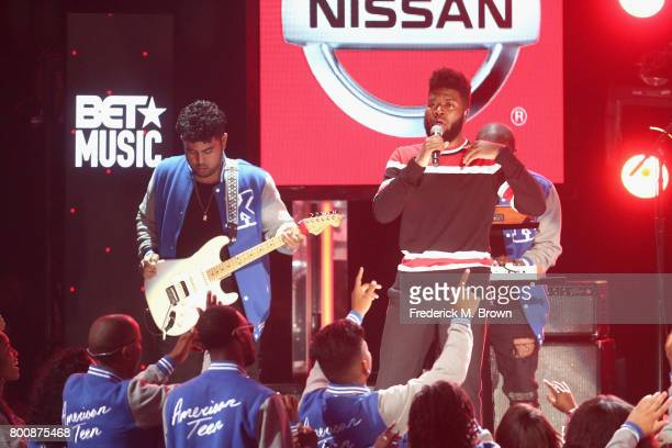 Khalid performs onstage at 2017 BET Awards at Microsoft Theater on June 25 2017 in Los Angeles California