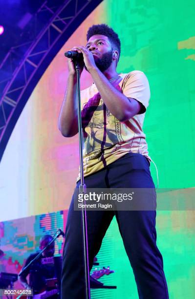 Khalid performs onstage at night two of the STAPLES Center Concert presented by CocaCola during the 2017 BET Experience at LA Live on June 23 2017 in...