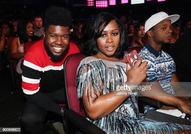 Khalid Remy Ma and Papoose at 2017 BET Awards at Microsoft Theater on June 25 2017 in Los Angeles California