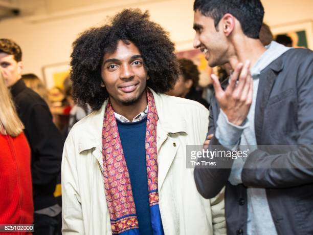 Khalier Moses during the opening of the Andy Warhol exhibition at the Wits Art Museum on July 26 2017 in Johannesburg South Africa The exhibition is...