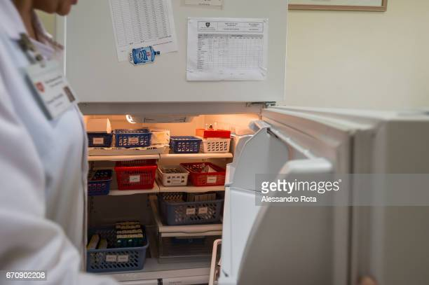 Khalvieh Lebanon Vaccine fridge at the Medical Centre of the Order of Malta The Syrian refugee crisis is putting both Lebanese and Syrian population...