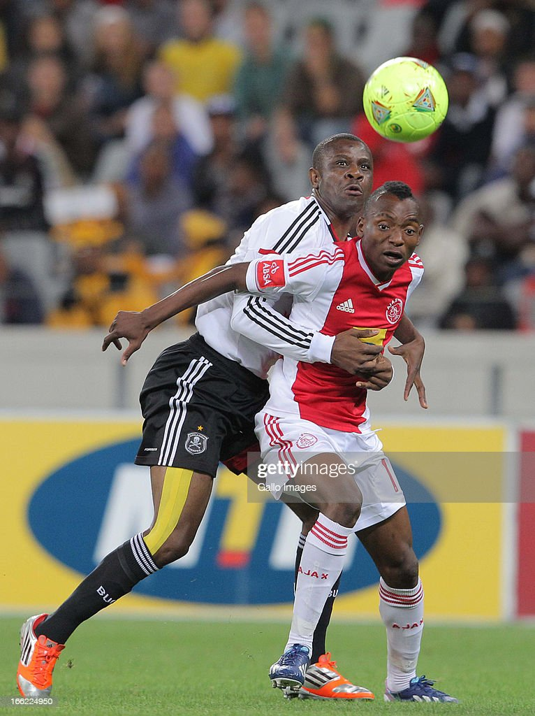 Khama Billiat of Ajax CT during the Absa Premiership match between Ajax Cape Town and Orlando Pirates from Cape Town Stadium on April 10, 2013 in Cape Town, South Africa.