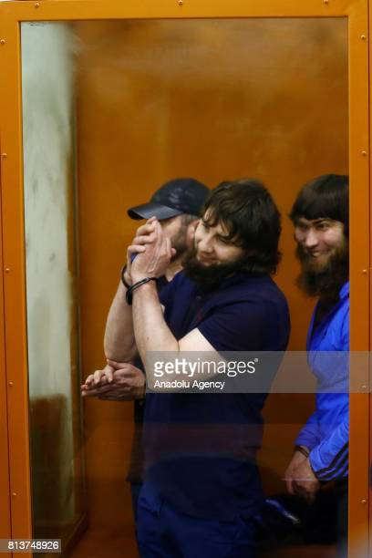 Khamzat Bakhayev Anzor Gubashev and Zaur Dadayev who are convicted of organizing and carrying out the contract killing of opposition leader Boris...