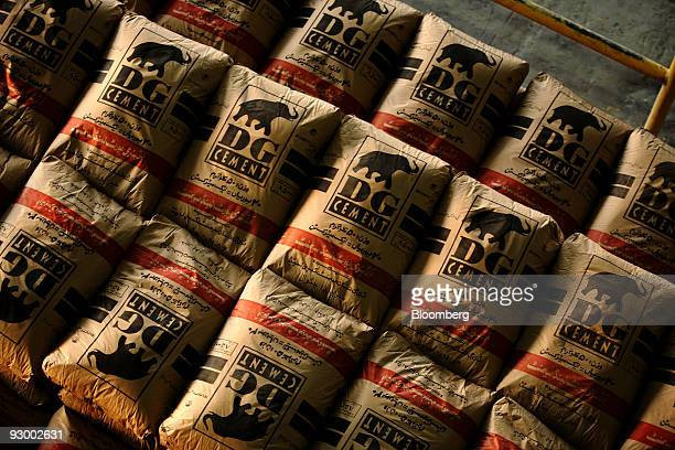 DG Khan Cement Ltd bags of cement are stacked at the company's plant in Kalar Kahar Pakistan on Wednesday Nov 11 2009 DG Khan Cement Ltd Pakistan's...