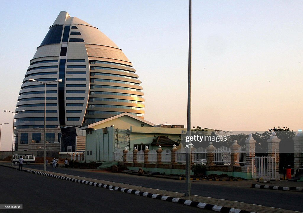 TO GO WITH AFP STORY BY JEANMARC MOJON AlFatih Tower a Libyanfinanced project stands opposite the Blue Nile river in Khartoum 10 March 2007 Sudan's...