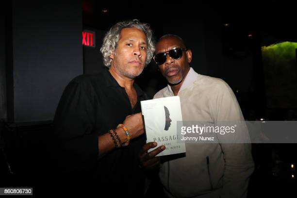 Khary LazarreWhite and Jabar attend the Khary Lazarre White 'Passage' Book Release Party at Beautique on October 12 2017 in New York City