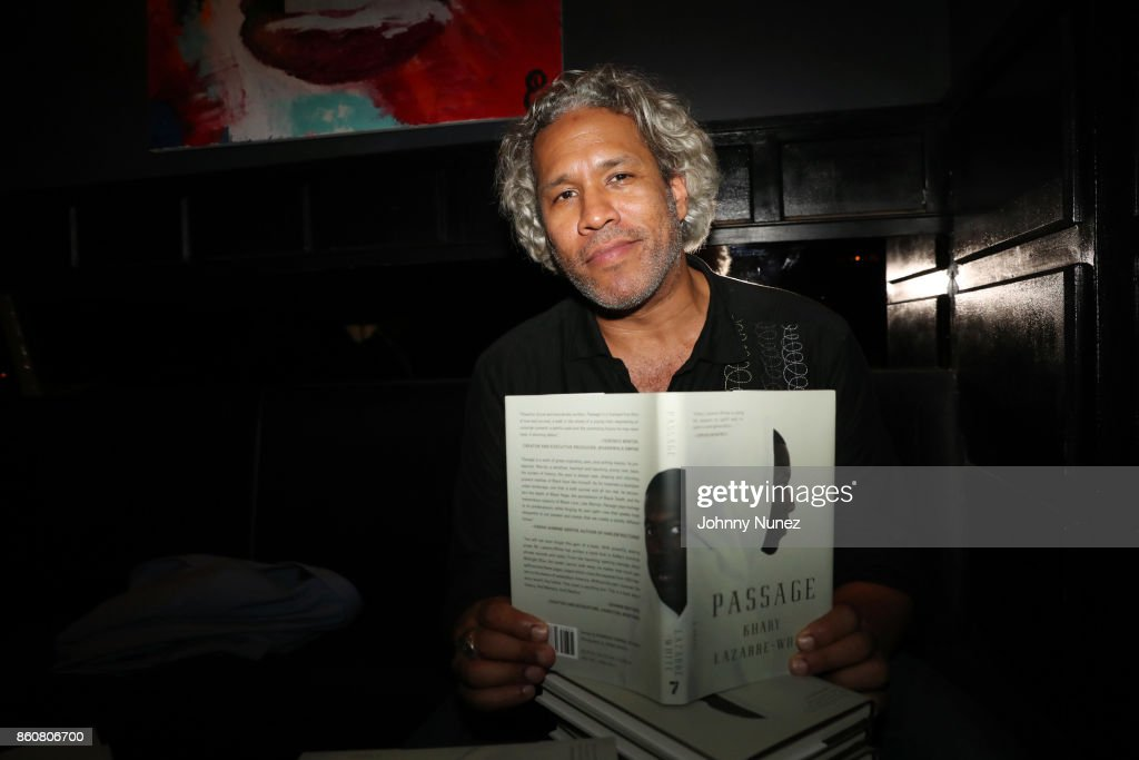 Khary Lazarre-White attends his 'Passage' Book Release Party at Beautique on October 12, 2017 in New York City.