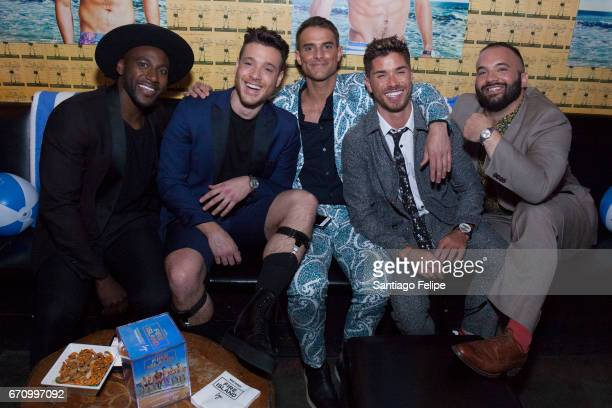 Khasan Brailsford Jorge Bustillos Patrick McDonald Cheyenne Parker and Justin Russo attend Logo TV Fire Island Premiere Party at Atlas Social Club on...