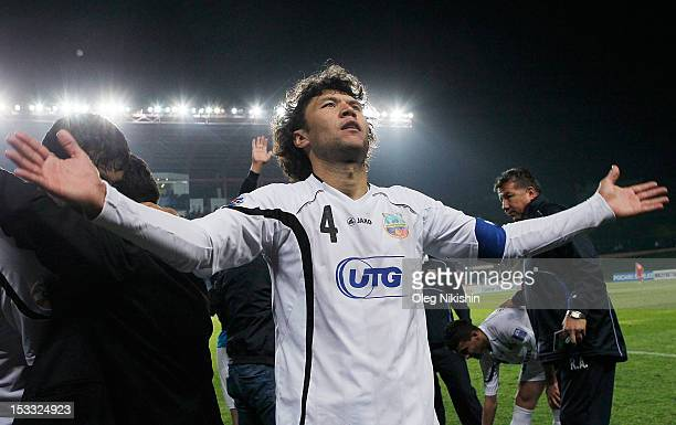 Khayrulla Karimov of Bunyodkor celebrates win during the AFC Champions League Quarter Final match between FC Bunyodkor and Adelaide United at JAR...