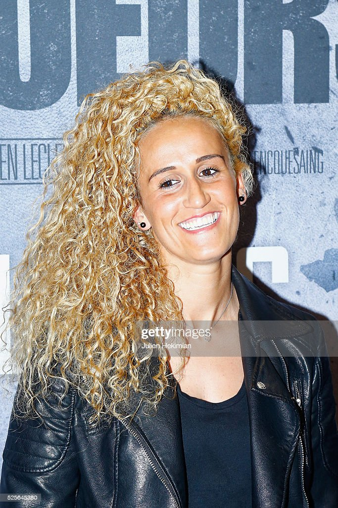 Kheira Hamraoui attends 'Braqueurs' Premiere at UGC Cine Cite des Halles on April 28, 2016 in Paris, France.