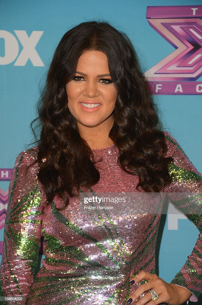 Khloé Kardashian Odom arrives at Fox's 'The X Factor' Season Finale - Night 2 at CBS Television City on December 20, 2012 in Los Angeles, California.