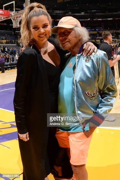 Khloé Kardashian poses with James Goldstein after the game between the Los Angeles Lakers and the Cleveland Cavaliers on March 19 2017 at STAPLES...