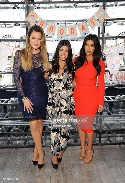 Khloé Kourtney and Kim Kardashian joined Babies'R'Us to surprise military momstobe with gifts including items from their Kardashian Kids collection...