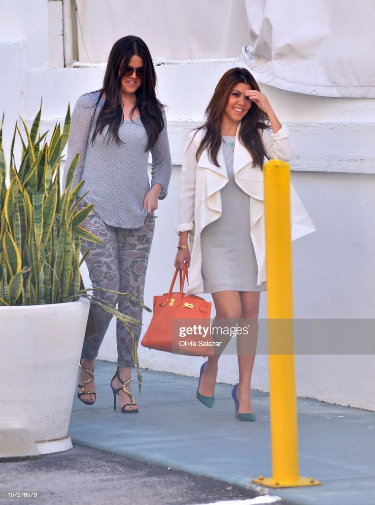 Khloe and <a gi-track='captionPersonalityLinkClicked' href=/galleries/search?phrase=Kourtney+Kardashian&family=editorial&specificpeople=3955024 ng-click='$event.stopPropagation()'>Kourtney Kardashian</a> Sighting In Miam on December 1, 2012 in Miami, Florida.