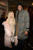 Khloe Kardashian and Lamar Odom attend Kanye West Yeezy Season 3 at Madison Square Garden on February 11 2016 in New York City