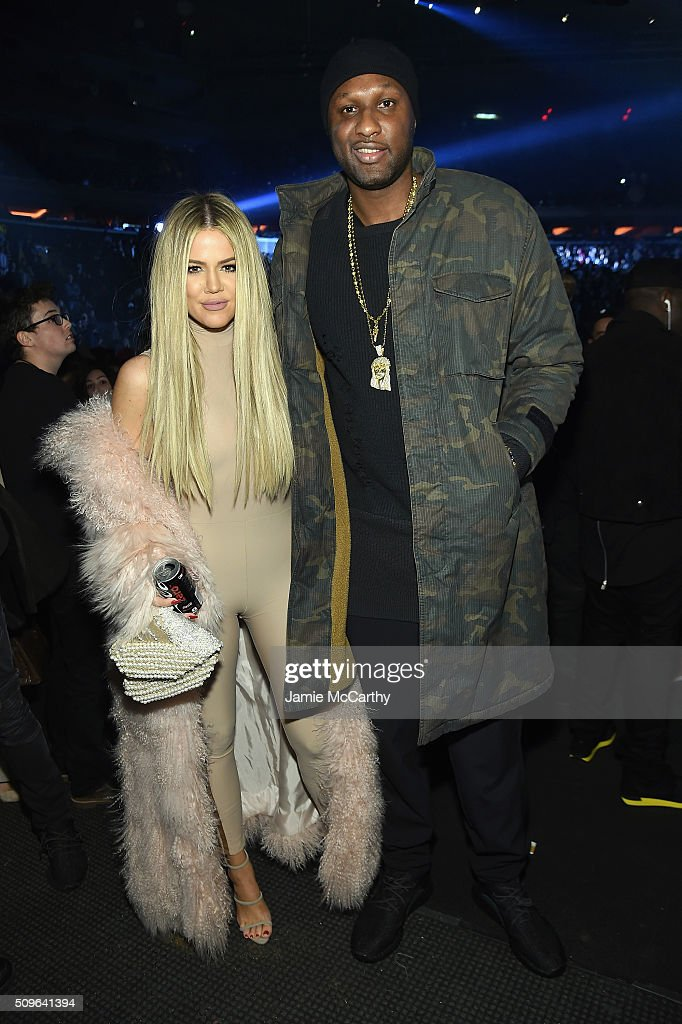 <a gi-track='captionPersonalityLinkClicked' href=/galleries/search?phrase=Khloe+Kardashian&family=editorial&specificpeople=3955023 ng-click='$event.stopPropagation()'>Khloe Kardashian</a> and <a gi-track='captionPersonalityLinkClicked' href=/galleries/search?phrase=Lamar+Odom&family=editorial&specificpeople=201519 ng-click='$event.stopPropagation()'>Lamar Odom</a> attend Kanye West Yeezy Season 3 on February 11, 2016 in New York City.